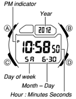 How to set time on Casio W-734
