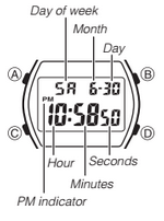 How to set time on Casio B640WB