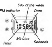 How to set time on Casio F-105