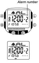 How to set alarm on Casio DB-36