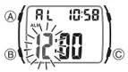 How to set alarm on Casio W-201