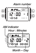 How to set alarm on Casio DBC-32