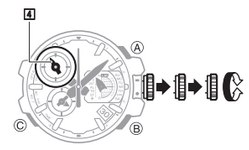 How to set time on Casio G-Shock GPW-1000