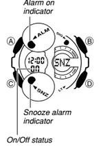 How to set alarm on Casio G-Shock GA-200