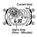 How to set alarm on Casio G-Shock G-9300