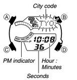How to set time on Casio Edifice EFA-131