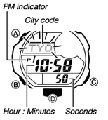 How to set time on Casio G-Shock GDF-100