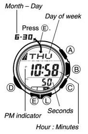 How to set time on Casio ProTrek PAW-1100