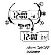 How to set alarm on Casio ProTrek PRW-5000