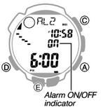 How to set alarm on Casio ProTrek PRW-2500