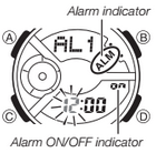 How to set alarm on Casio Baby-G BA-110BC