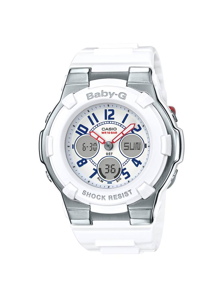 Baby-G White Tricolor Series 2016