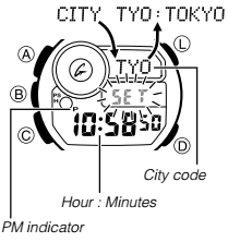 How to set time on Casio G-Shock GWF-D1000 / 3445