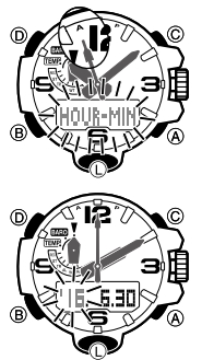 How to set time on Casio G-Shock GWG-1000 / 5463