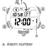 How to set alarm on Casio STB-1000 / 3423