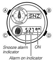 How to set alarm on Casio G-Shock GAX-100 / 5485