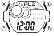 How to set alarm on Casio G-Shock GLS-8900 / 3422