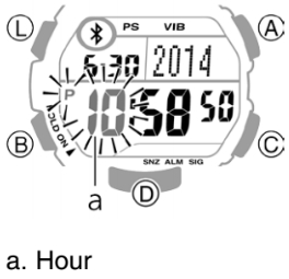 How to set time on Casio STB-1000 / 3423