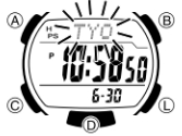 How to set time on Casio STL-S110 / 3440