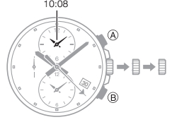 How to set time on Casio Edifice EFB-302 / 5468
