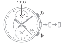 How to set time on Casio Edifice EFR-303 / 5468