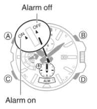 How to set alarm on Casio G-Shock GPW-2000 / 5502