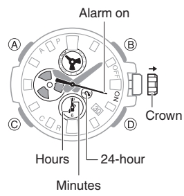 How to set alarm on Casio G-Shock GST-B100 / 5513