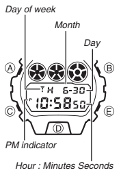 How to set time on Casio G-Shock DW-9052 / 3232