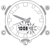 How to set time on Casio G-Shock GA-800 / 5535