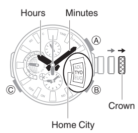 How to set time on Casio G-Shock MRG-G2000 / 5531