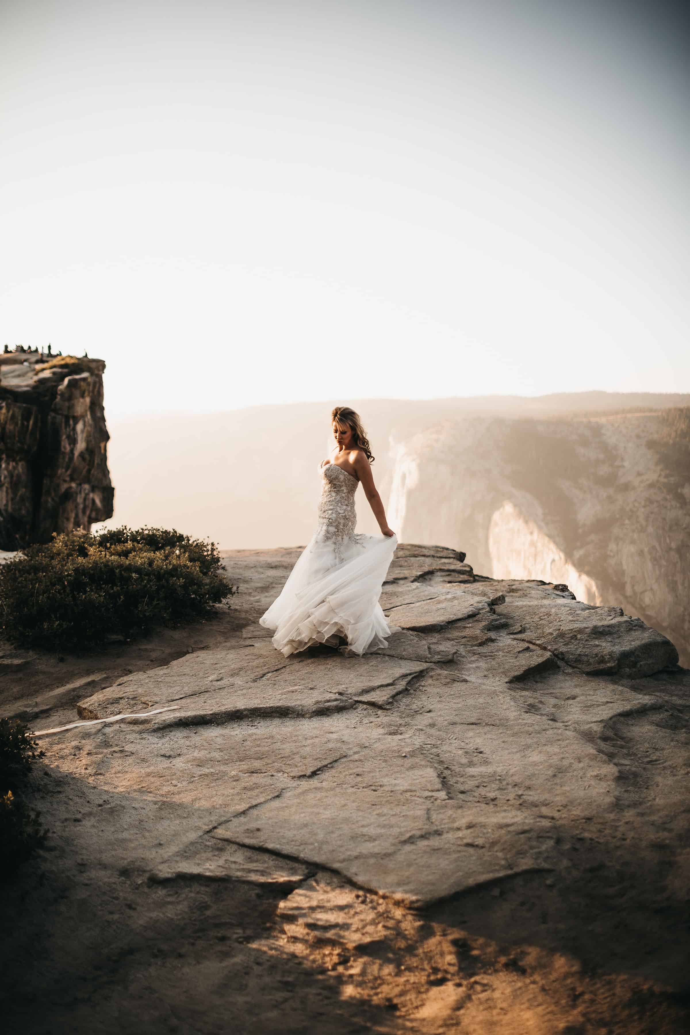 bride at her taft point elopement