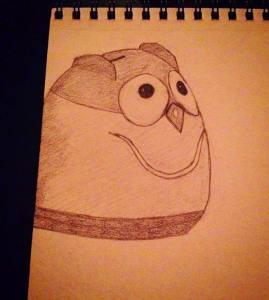 drawing of owl humidifier