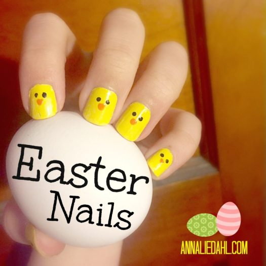 Easy Easter Peep Nails