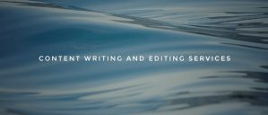 Content writing and editing services