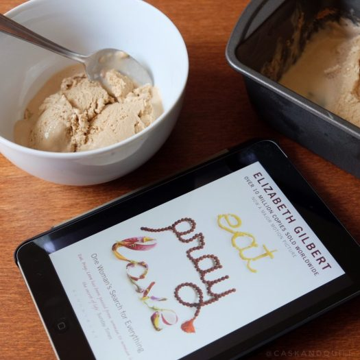 Cinnamon Chai Gelato recipe, inspired by Eat, Pray, Love