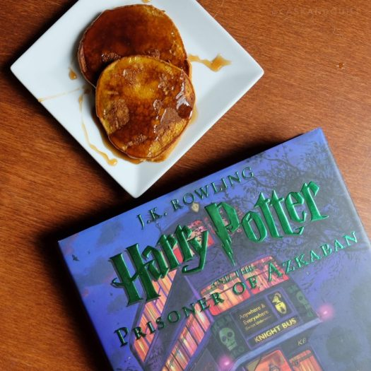 Harry Potter pumpkin butterbeer pancakes