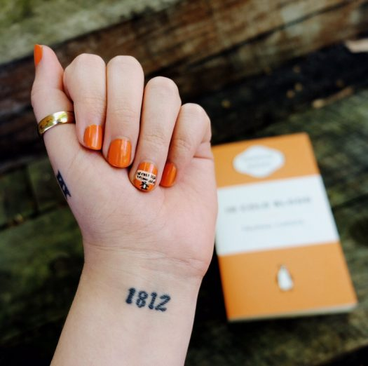 Penguin classics nail art
