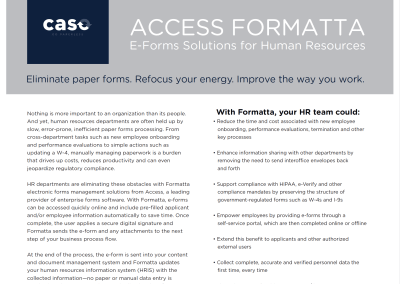 eForms Solutions for Human Resources