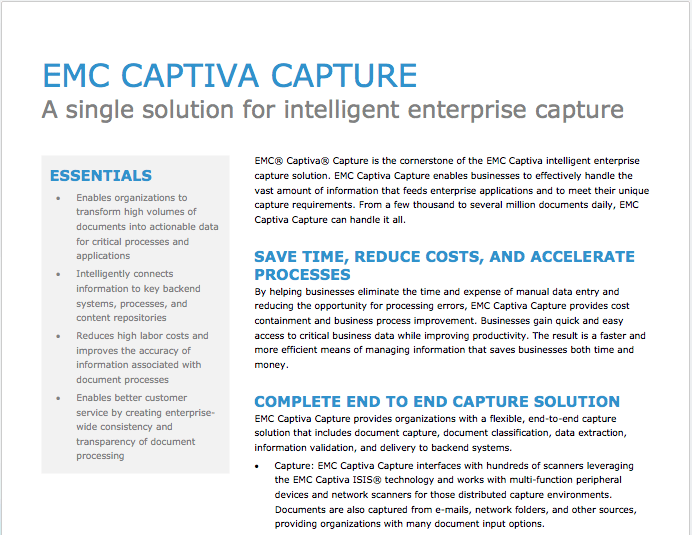 EMC Captiva Capture