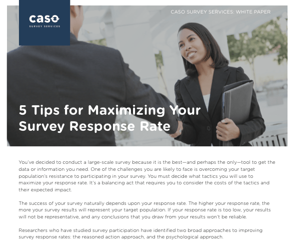 White Paper: 5 Tips for Maximizing Response Rate