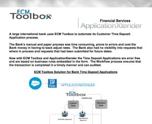 ECM Toolbox, Bank Transactions