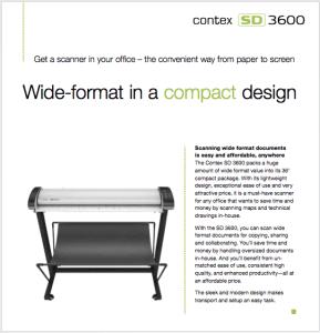 Contex SD 3600