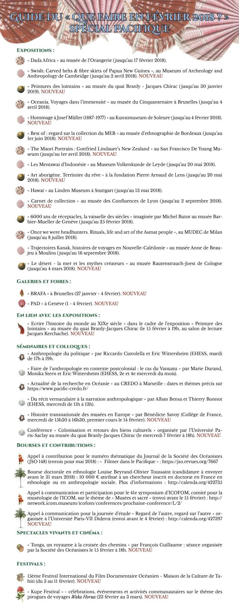 Agenda Février 2018