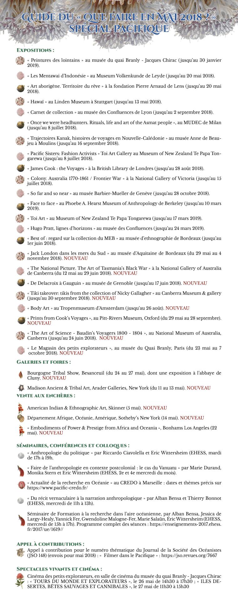 Agenda Mai 2018