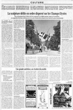 Article du Monde 1999, John Kelly, Cow Up a Tree, 1999