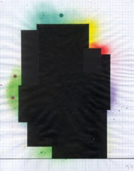 David Batchelor, Magic Hour Drawings, 2013 Spray paint, ink and paper on squared paper, 35.5 x 28 cm