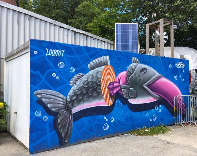 Und ein wurstbegeisterter Lachs von Loomit. ©casowi