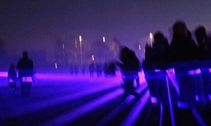 Lumen aqualis von Gretalux ermöglichte das Laufen im Laser. Ziemlich abgefahren. (© casowi)