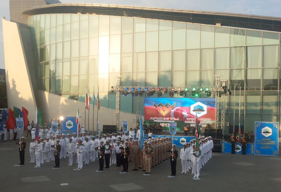 В Баку состоялась торжественная церемония открытия Международных соревнований «Кубок моря-2017»