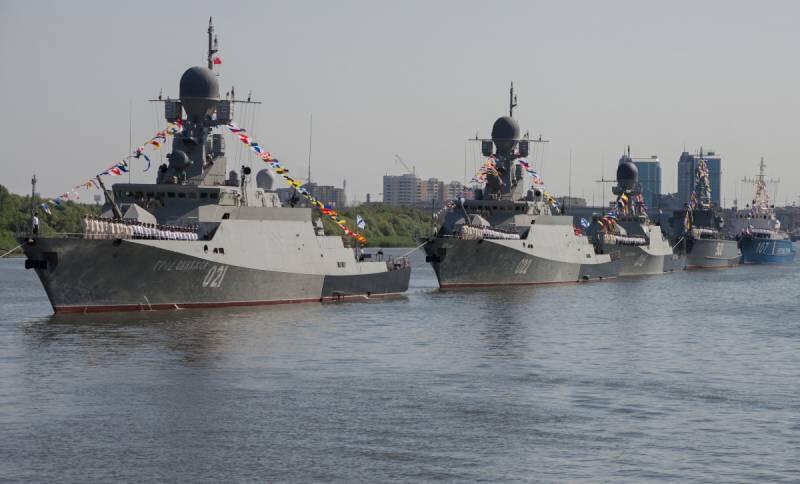 Военно-морская мощь России на Каспии